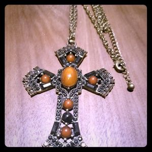 Cross necklace...